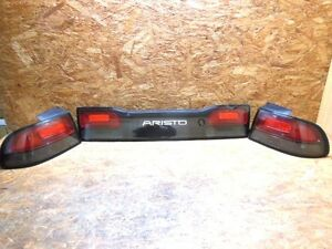 1991 97jdm Toyota Aristo Jzs147 Lexus Gs400 300 Smoke Tail Lights W Garnish Oem