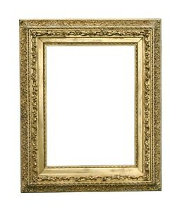 Large Antique Gold Leaf And Gilded Composition Picture Frame 33 1 2 X 41