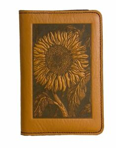 Sunflower Oberon Design Custom Marigold Leather Pocket Moleskine notebook Cover