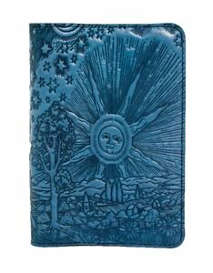 Roof Of Heaven Oberon Design Custom Blue Leather Pocket Moleskine notebook Cover