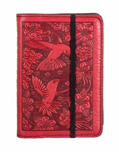 Hummingbird Oberon Design Custom Red Leather Pocket Moleskine notebook Cover