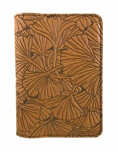Ginkgo Leaves Oberon Design Custom Gold Leather Pocket Moleskine notebook Cover