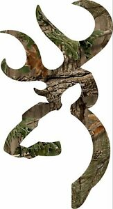 Browning Style Camo Buck Camouflage Hunting Sticker Decal