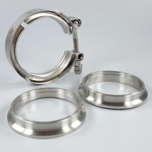 2 Inch Turbo Exhaust Down Pipe V Band Clamp Flange Kit 304 Stainless Steel