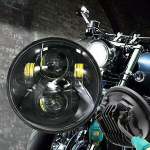 5 3 4 5 75inch Motorcycle Led Headlights Projector For Harley Black