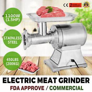 Commercial Grade 1 5hp Electric Meat Grinder 1100w Stainless Steel Heavy Duty