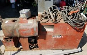 Lincoln Electric Ac 225 dc 210 6 Arc Welder And Generator A zzz
