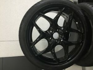 21 Bmw X6 Brand New Black Set Tires And Rims Mounted 36 11 0 433 160