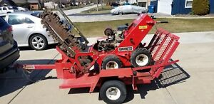 Barreto 1824 d Walk Behind Trencher Honda Gx610 V twin With Trailer Check Pics