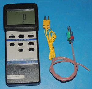 Vwr 61220 605 Dual Channel Digital Traceable Thermometer Thermocouple Probes
