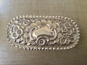 Antique Victorian Sterling Silver Ring Box 5 Slot