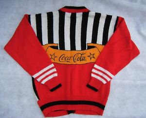 VINTAGE COCA COLA CARDIGAN SWEATER WITH COCA COLA BUTTONS