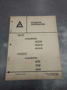 Allis Chalmers Balers And Throwers Parts Manual 79001355
