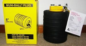 Cherne 8 Muni ball Pipe Plug With 3 Hose Bypass new Stock