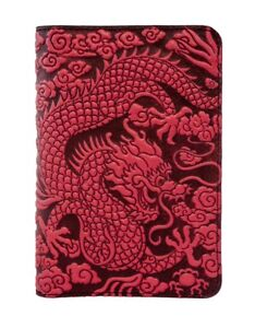 Cloud Dragon Oberon Design Custom Red Leather Pocket Moleskine notebook Cover