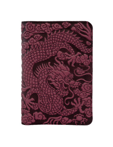Cloud Dragon Oberon Design Custom Wine Leather Pocket Moleskine notebook Cover