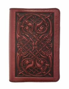 Celtic Hounds Oberon Design Custom Wine Leather Pocket Moleskine notebook Cover