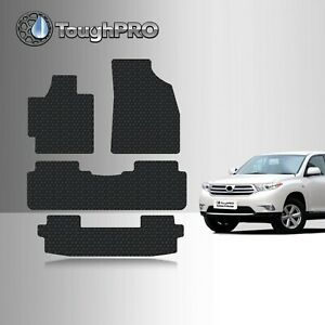 Toughpro Floor Mats 3rd Row Black For Toyota Highlander All Weather 2008 2013