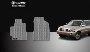 Toughpro Heavy Duty Gray Rubber For 2004 2007 Toyota Highlander Front Floor Mat