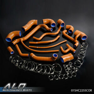 Orange Silicone Radiator Turbo Hose Kit For Vw Volkswagen Corrado G60 1 8t 16v