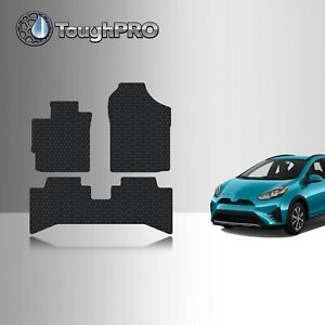 Toughpro Floor Mats Black For Toyota Prius C All Weather Custom Fit 2012 2019