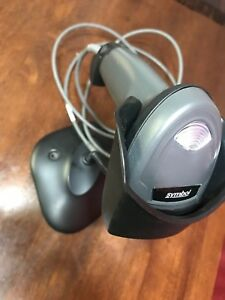 New Symbol Ls2208 Barcode Scanner With Cable And Stand