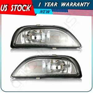 Front Bumper Fog Lights Clear Lens Lamp Replacement For 2001 2002 Toyota Corolla