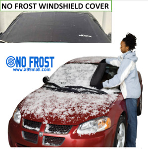 2pcs Car No Frost Windshield Cover Hook Up Snow Ice Sun Dust Frost Shield