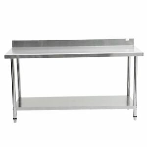 72 x30 Stainless Steel Work Table Food Prep Kitchen Restaurant With Backsplash