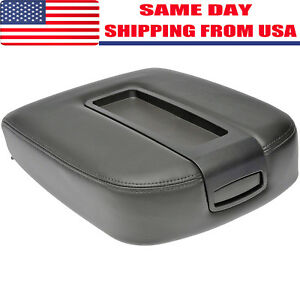 New Black Center Console Armrest Lid Cover Cadillac Chevy Gmc Pickup Truck Suv