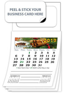300 2019 Magnetic Business Card Calendars Standard Edition
