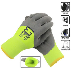 Safety Winter Insulated Double Lining Rubber 3 4coated Work Gloves bgwans3 4 lm