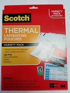 Scotch Thermal Laminating Pouches Variety Pack 65 Pouches 6 Packs