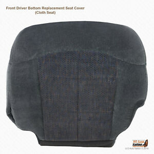 2001 2002 Chevy Silverado 2500 Hd Ls Driver Side Bottom Cloth Seat Cover Dk Gray
