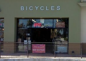 Store Front Led Sign White Bicycles Lighted Individual Letters