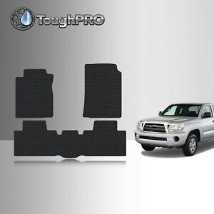 Toughpro Floor Mats Black For Toyota Tacoma Access Cab All Weather 2005 2011