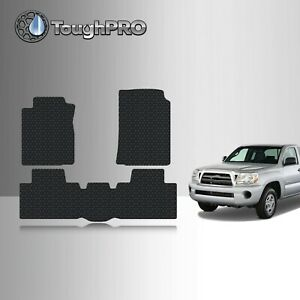Toughpro Floor Mats Black For Toyota Tacoma Access Cab All Weather 2005 2009
