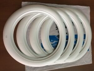 2 Wide White Wall Tire Trims Port A Wall Set For 15 Wheel And Tire Hot Rod