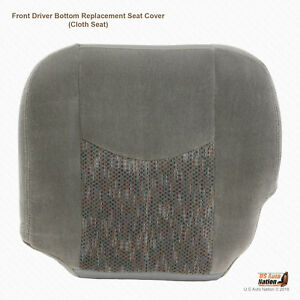 2003 2004 2005 2006 Chevy Tahoe Ls Driver Bottom Pewter Gray Cloth Seat Cover