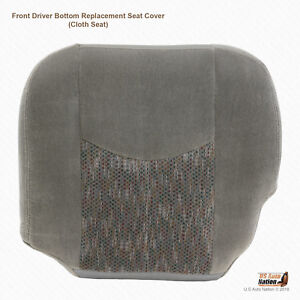 2003 2004 2005 2006 Chevy Suburban Z71 Driver Side Bottom Gray Cloth Seat Cover