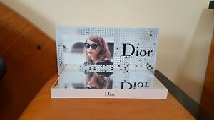 New Dior Eyewear Display Stand Multi Color Mirrored Plastic Size 16 8 9