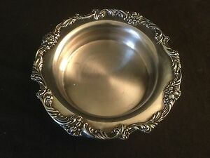 Reed Barton King Francis Silverplate Wine Bottle Coaster 1695