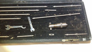 Starrett 124 b 14 Pc 2 To 11 Machinist Inside Micrometer Tool Set Case Vintage