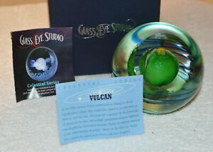 VULCAN Celestial Series Paperweight by Glass Eye Studio Made in the USA 2229PWC