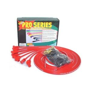 Taylor 70250 8mm Spark Plug Wires Wire Core 90 Degree Red