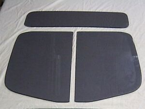 1935 1936 1937 Ford Pick Up 3 Pc Glass Set Truck Door Glass Back Glass