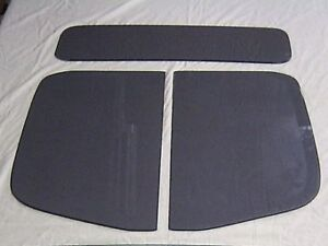 1937 Chevrolet Pick Up Low Roof 3 Pc Glass Set Truck Door Glass Back Glass