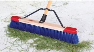New Harpers 7924p1 24 Premium Red end Outdoor Unassembled Push Broom In A Box