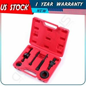 6pcs Power Steering Pump Pulley Puller Remover Installingtool Kit For Gm