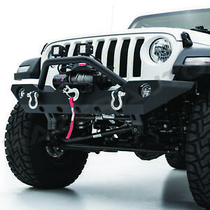 Classic Rock Crawler Front Bumper winch Plate 2d ring For 18 19 Jeep Jl Wrangler